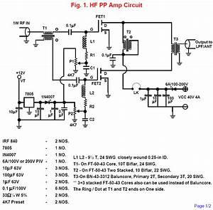 Radio Circuits Blog  Hf Push Pull Broad Band Amplifier Circuit