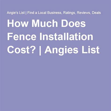 25 best ideas about fence installation cost on