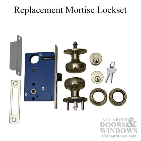 discontinued mortise lock set replacement  marks ac brass lh rhr