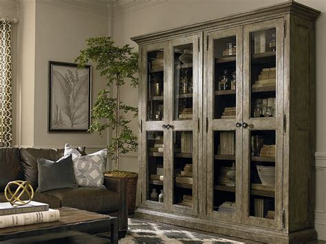 compass tall double display cabinet home furnishings
