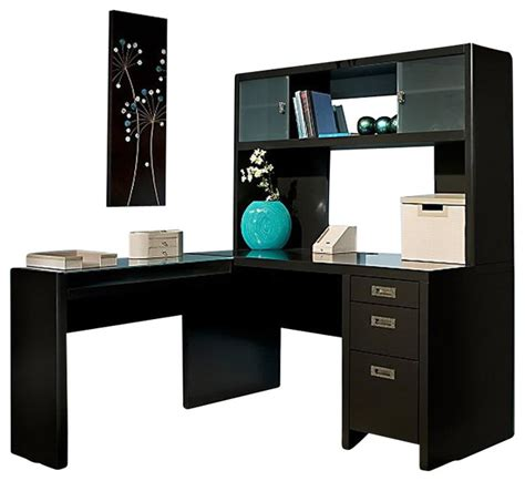 l shaped desk and hutch kathy ireland by bush new york skyline l shape desk with