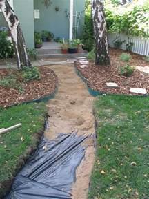 DIY Flagstone Patio Walkway