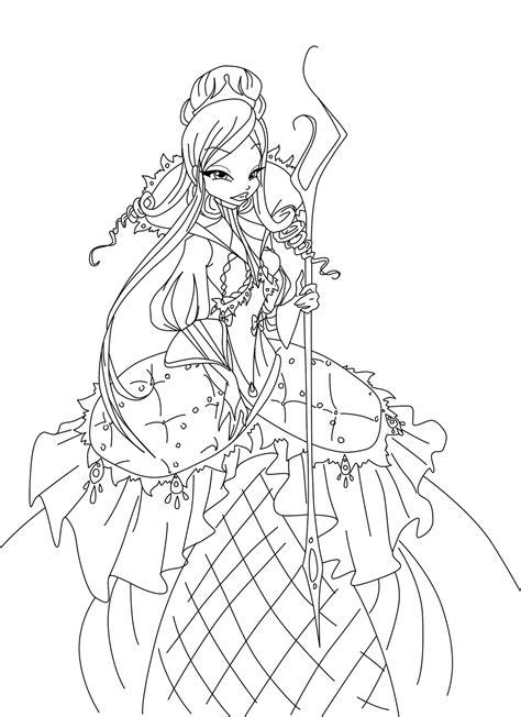 winx princess coloring pages   print