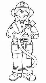 Coloring Firefighter Fireman Printable Amazing Cartoon Fire Clipart Sheet Davemelillo Crafts Community Safety Preschool Colouring Ausmalbilder Template Police Feuerwehr Outfit sketch template