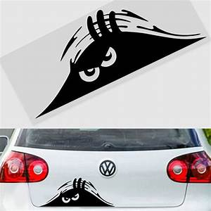 scary monster peeper funny car van truck bumper window With automotive lettering