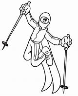Coloring Pages Winter Olympic Skiing Olympics Freestyle Skier Printable Doing Getcoloringpages Popular sketch template