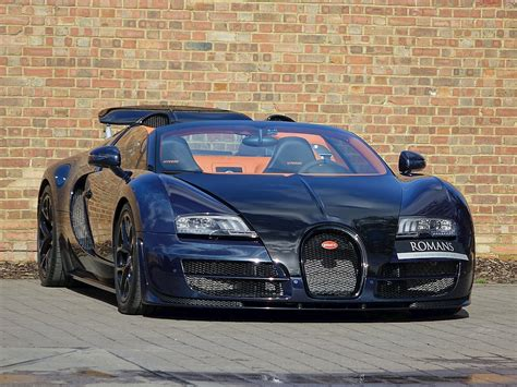 Bugatti Veyron Grand Sport For Sale by 2014 Used Bugatti Veyron Grand Sport Vitesse Blue Black