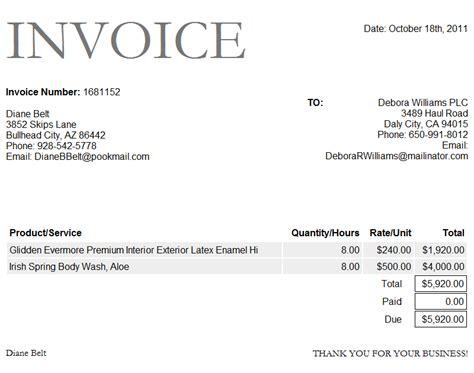 invoice template doc invoice sle doc invoice exle