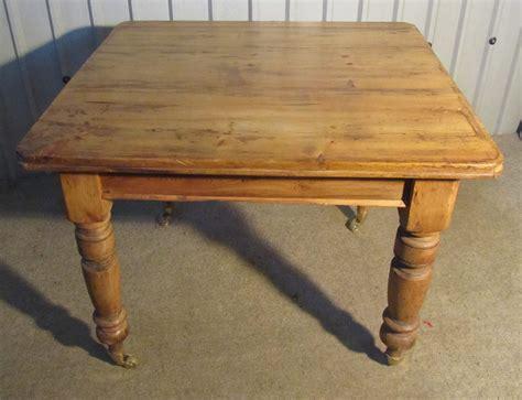 Victorian Rustic Pine Kitchen Table-antiques Atlas