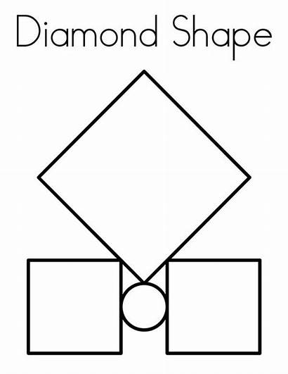 Diamond Coloring Shape Pages Box Between Shapes
