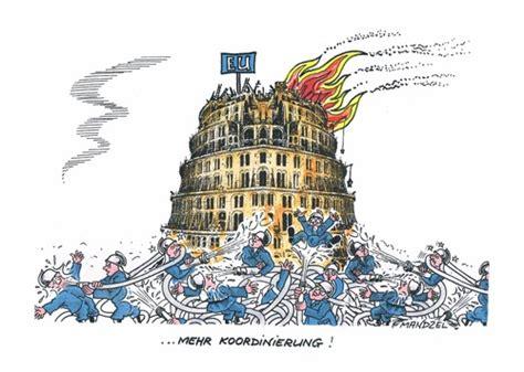 Das Haus Europa Brennt Von Mandzel  Politik Cartoon