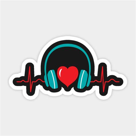 Insists that they are an awesome dancer even though they're terrible: Heartbeat Headphones Love Music Gift Design - Music ...