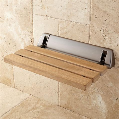 teak fold up shower seat bathroom