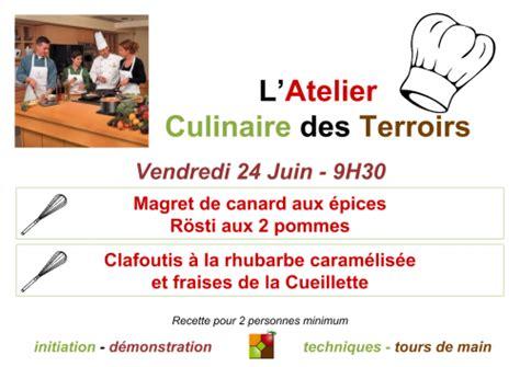 affiche atelier cuisine atelier cuisine archives esprit terroirs
