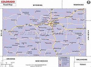 Colorado Road Map, Highways in Colorado