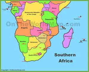 map of southern africa my blog