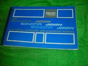 electric and cars manual 1992 gmc sonoma security system 1992 gmc sonoma electrical diagrams van service manual ebay