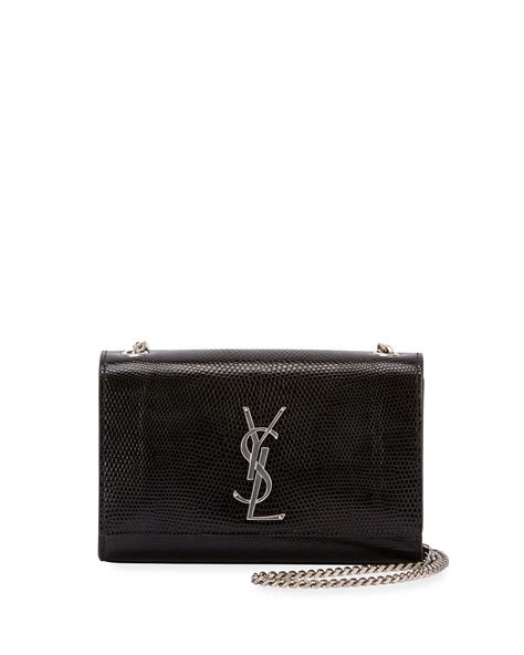 saint laurent kate monogram ysl small lizard chain