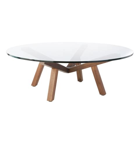 Fantastic Round Glass Coffee Table Wood Base Also Interior