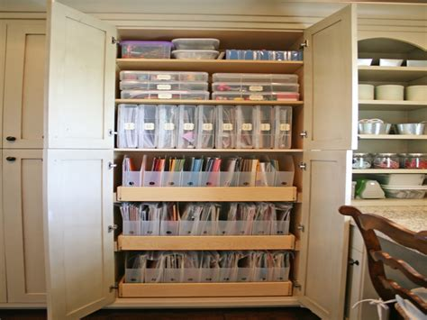 craft cabinet scrapbook room  built  craft storage