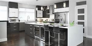 ilot de cuisine armoires cuisines action With salle À manger contemporaine avec ilot central cuisine gris