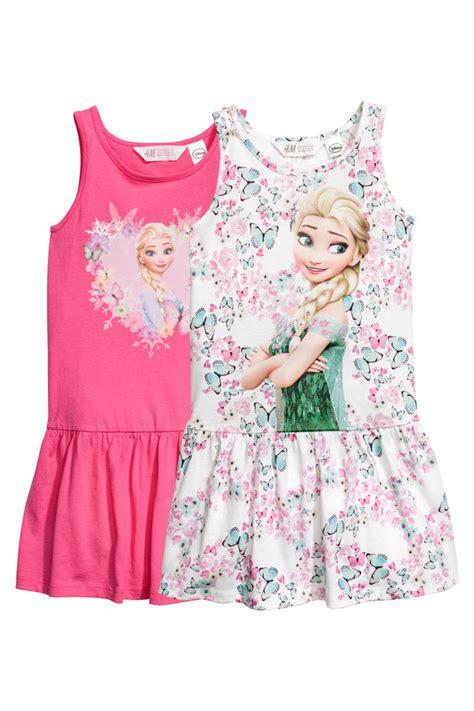 set lp frozen 2 pack jersey dresses white frozen sale h m us