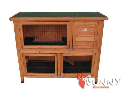 Deluxe Double Decker Rabbit / Guinea Hutch With Legs / 2