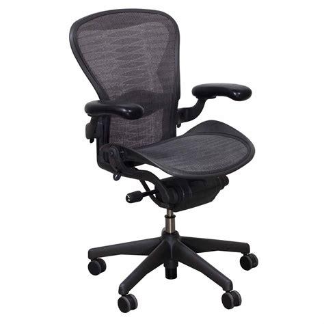 herman miller aeron used size b task chair grey black