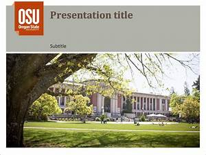 oregon state powerpoint template - osu powerpoint template