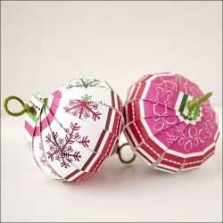 ornament countdown scrapbook paper balls the crafty