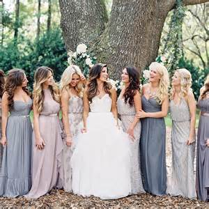 dove gray wedding dress earth tone bridesmaid dresses mix and match shades