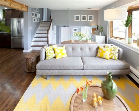 Home Decor Yellow And Gray : 12 Gray And Yellow Living Room Ideas