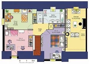 maison contemporaine 7 detail du plan de maison With charming construire sa maison 3d 7 maison darchitecte 1 detail du plan de maison d