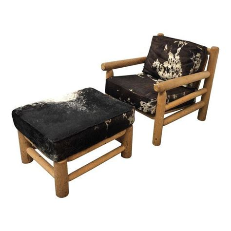 Cowhide Chair And Ottoman by Custom Cowhide Chair Ottoman Design Plus Gallery