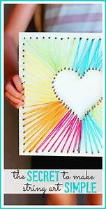 heres a simple way to do string art - love this diy