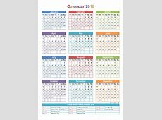 Calendar 2018 with holidays list usa Printable 2018