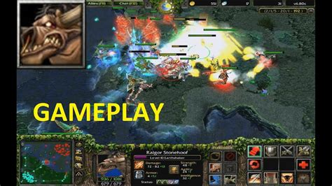dota 6 80c earthshaker gameplay youtube