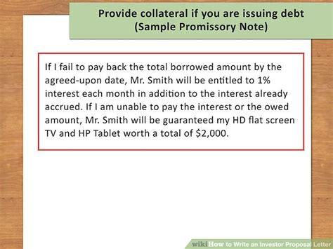 write  investor proposal letter  sample letter