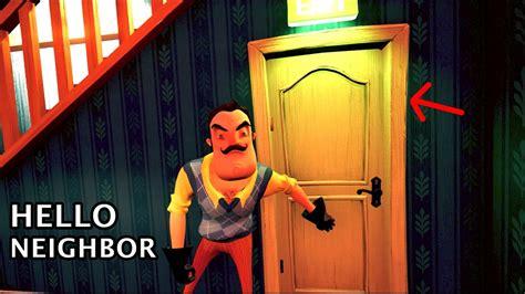 NEW DOOR ENDING + UPSTAIRS | Hello Neighbor (NEW UPDATE ...