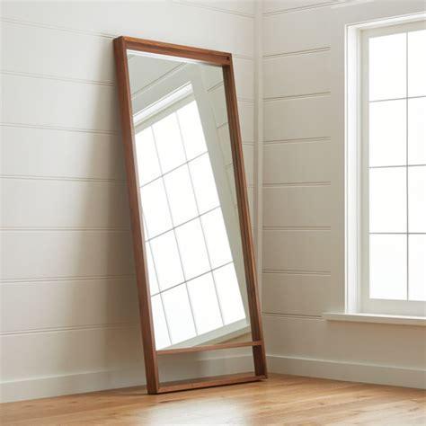 Blair Walnut Floor Mirror   Reviews   Crate and Barrel