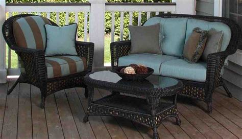 outdoor wicker furniture cushions sets decor ideasdecor