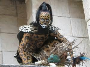 Aztec Jaguar Warrior Mayan Masks