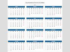 Calendario 2016 festivos 2016 Calendario de Colombia