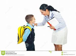 Teacher Talking With Schoolboy Stock Image - Image of ...