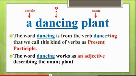 present participle   adjective english