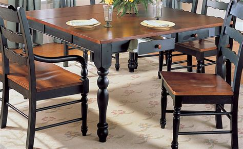 dining room table with drawers homelegance sedgefield dining table with drawers and