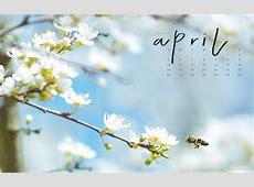 Free Downloadable April Calendar Tech Wallpaper