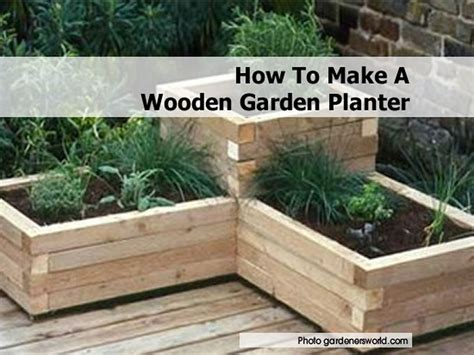 Custom Beginner Guide To Get How To Build Wood Planters