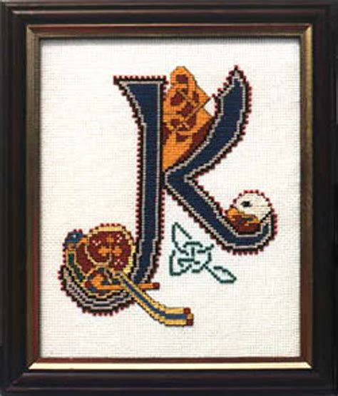 book  kells letters celtic letter  cross stitch