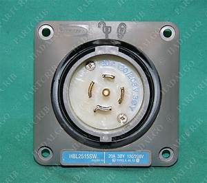 Hubbell Hbl2515sw Safety Shroud Twist Lock 3phase 20a 120
